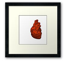 geometric heart of courage Framed Print