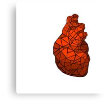 geometric heart of courage Canvas Print
