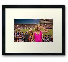 Miss Piggy entertains the crowd Framed Print