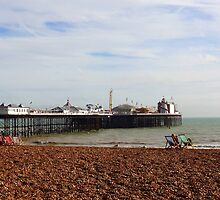 """UK: """"Relaxing at Brighton Beach"""", Brighton & Hove by Kelly Sutherland"""