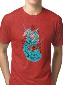 splattering heart Tri-blend T-Shirt