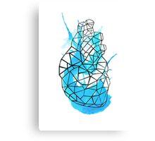 splattering heart Canvas Print