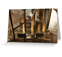 Chairs & Tables Greeting Card