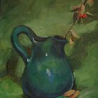Green Pitcher by Les Castellanos