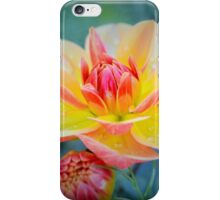 Golden Dahlia with Nestling Bud iPhone Case/Skin