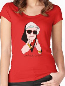 Too Legit to Knit Women's Fitted Scoop T-Shirt