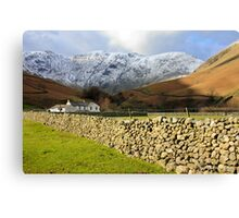Dry Stone Wall at Wasdale Canvas Print