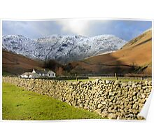 Dry Stone Wall at Wasdale Poster