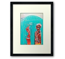 Slim slow slider Framed Print