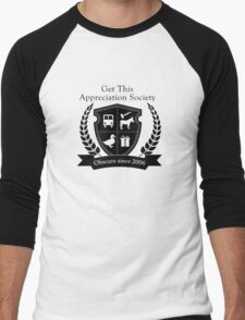 Get This Appreciation Society Crest - Black Men's Baseball ¾ T-Shirt