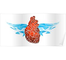glass heart wings Poster