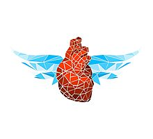 glass heart wings Photographic Print