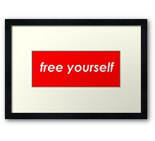 Free yourself Framed Print