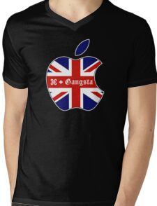 Apple Gangsta Mens V-Neck T-Shirt