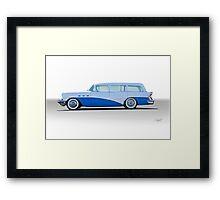 1956 Buick Century 'Low Rider' Wagon Framed Print