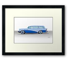 1956 Buick Century 'Low Rider' Wagon Framed Print
