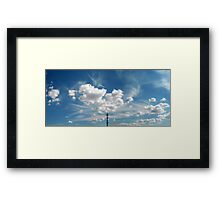 ©HCS The Winter Clouds IA. Framed Print