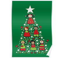 Christmas Tree Kids Poster