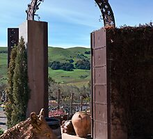Garden Gateway at Viansa Winery, Sonoma Valley by MarkEmmerson