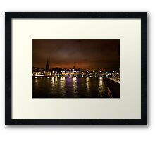 Stockholm at Night (Sweden) Framed Print