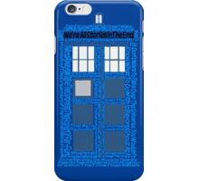 Doctor Who Quotes (Blue BG) iPhone Case/Skin