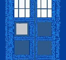 Doctor Who Quotes (Blue BG) by WondraBox