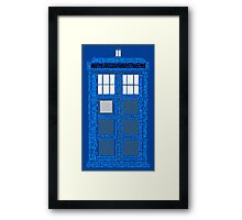 Doctor Who Quotes (Blue BG) Framed Print