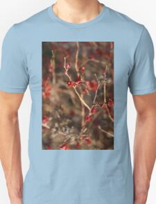 Red Leaf on Branch T-Shirt