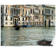 """Venice, Italy: """"The Gondalier"""" Poster"""