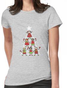 Christmas Tree Kids and Sparkling Stars T-Shirt