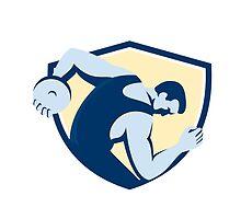 Discus Thrower Side Shield Retro by patrimonio