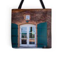 Shuttered Doorway Reflections, Viansa Winery, California Tote Bag