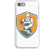 Tiler Plasterer Mason Trowel Shield Retro iPhone Case/Skin