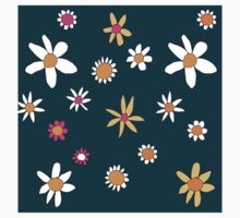 Teal Flowers Kids Clothes