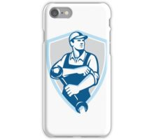Mechanic Spanner Rolling Sleeve Shield Retro iPhone Case/Skin
