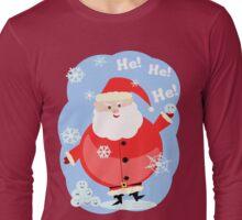 Naughty Santa Claus T-Shirt Long Sleeve T-Shirt