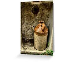 jug&sink Greeting Card