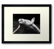 Two Worlds Reach Out Framed Print
