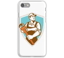Plumber Monkey Wrench Rolling Sleeve Shield Retro iPhone Case/Skin