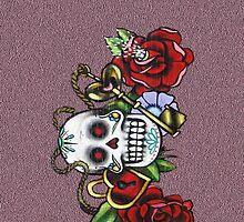 Skull & Roses-Graffit Art by DAdeSimone