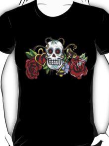 Skull & Roses-Graffit Art T-Shirt