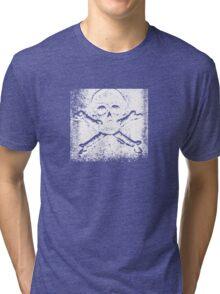skull patch Tri-blend T-Shirt