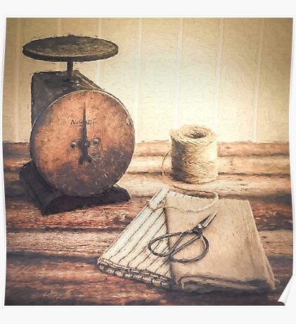 Primitive Textiles Poster