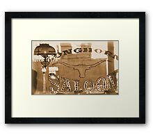 #629  The Saloon Framed Print