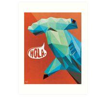 HOLA. Art Print