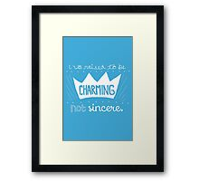 Prince Charming Into The Woods Framed Print