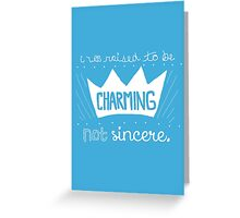 Prince Charming Into The Woods Greeting Card
