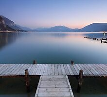 A very soft dusk on Annecy lake by Patrick Morand