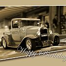 vintage car card by picketty