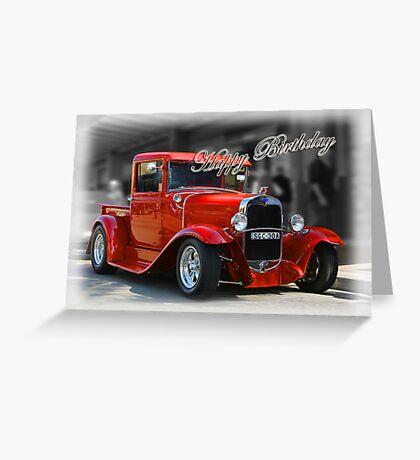 red car birthday card Greeting Card